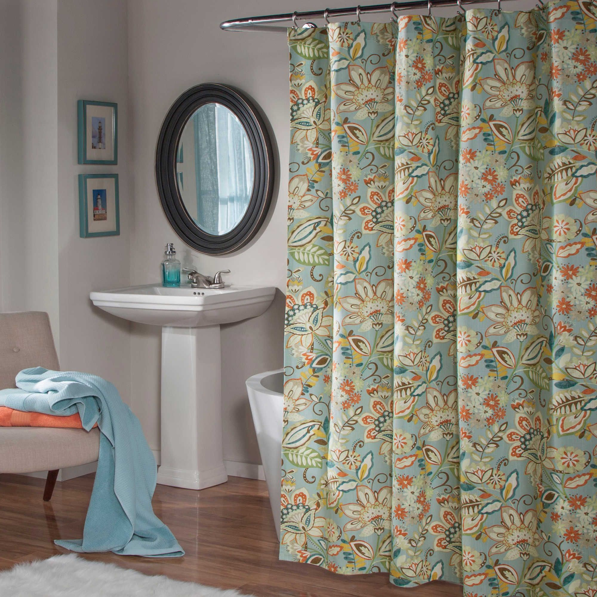 Mstyle Enya Shower Curtain In Aqua