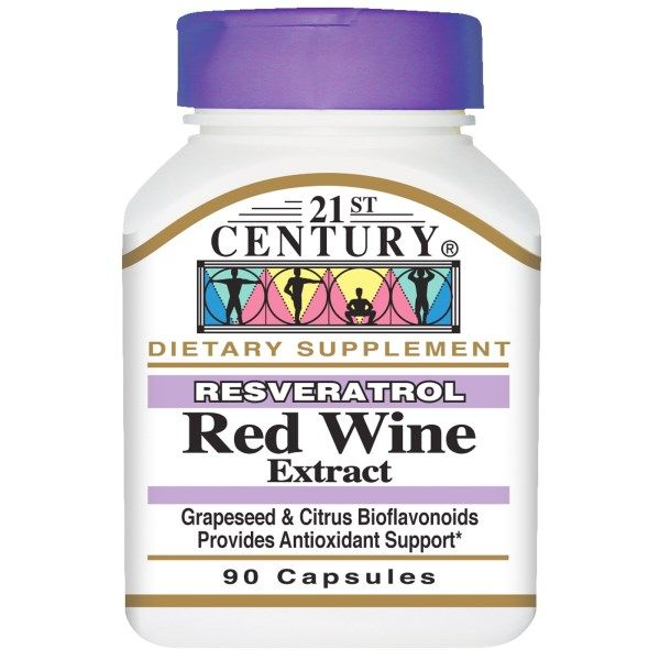 21st Century Resveratrol Red Wine Extract 90 Capsules Tovary