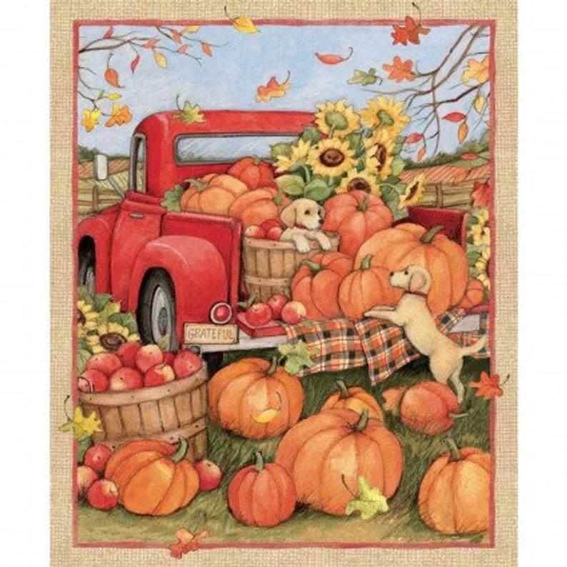 Pumpkins For Sale Pumpkin Patch Log Cabin Panel Quilt Kit Halloween Fall