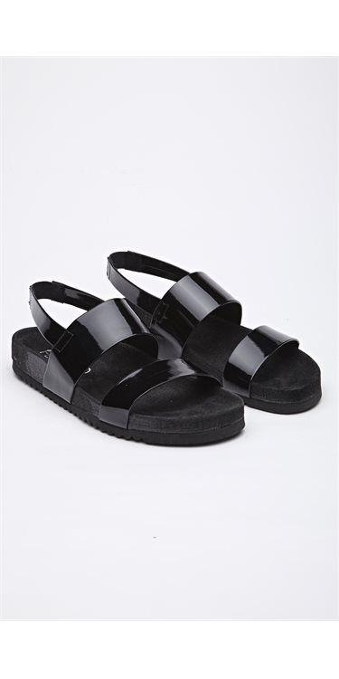 5ecd767c Sandaler fra Pavement med lakbelægning og tyk sål. Sandalerne har en  virkelig blød og god