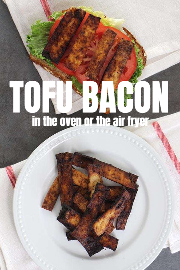 Balsamic Tofu Bacon In The Oven Or The Air Fryer Glue Glitter Recipe Tofu Recipes Vegan Vegan Recipes Easy Bacon Tofu