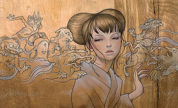 Painting by Audrey Kawasaki Night parade