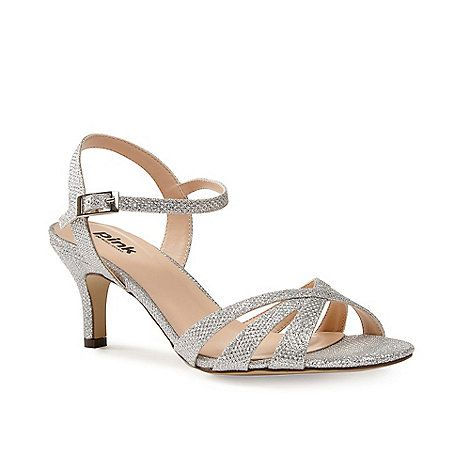 3120ef26e8fb3b Pink by Paradox London Glitter  shelby  mid kitten heel ankle strap sandals