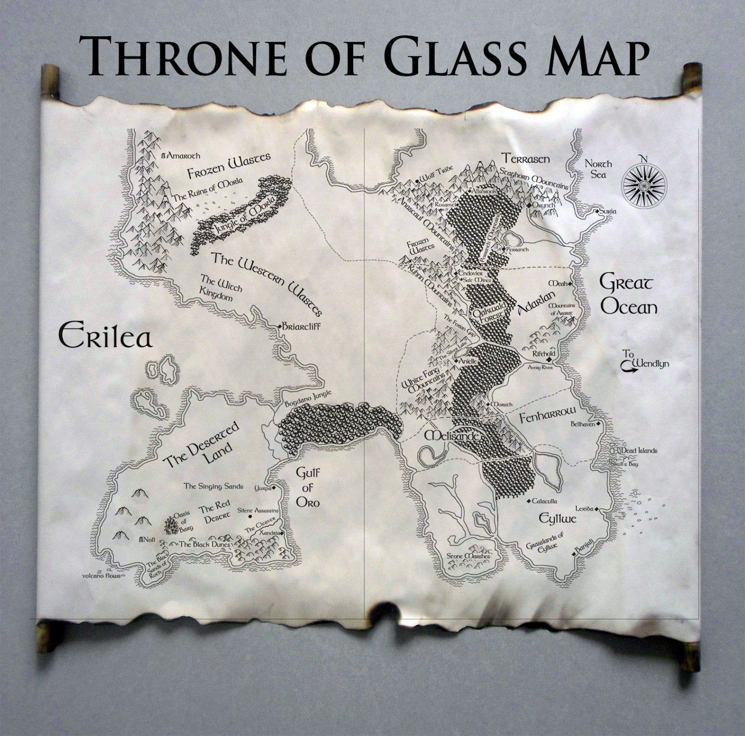 Map Of Erilea Map Of The World Of Throne Of Glass Sarah J Maas