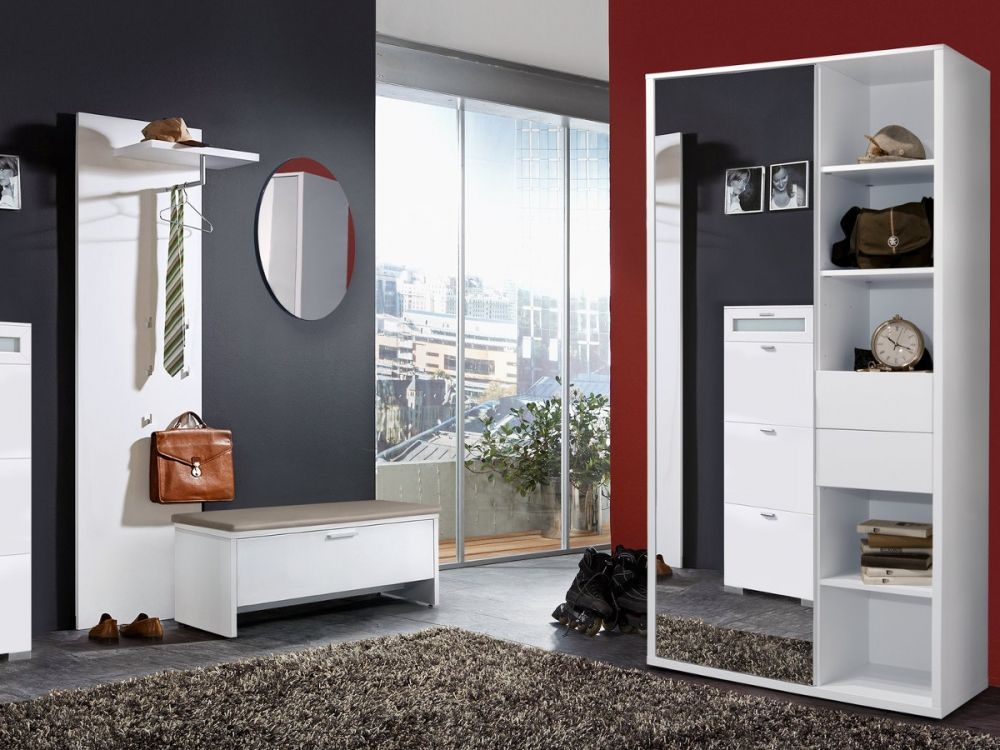 arte m kompaktgarderobe jobi garderobenschrank weiss diele und flur pinterest diele. Black Bedroom Furniture Sets. Home Design Ideas