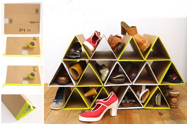 50 Cara Membuat Kerajinan Tangan Dari Kardus Bekas Lemari Sepatu