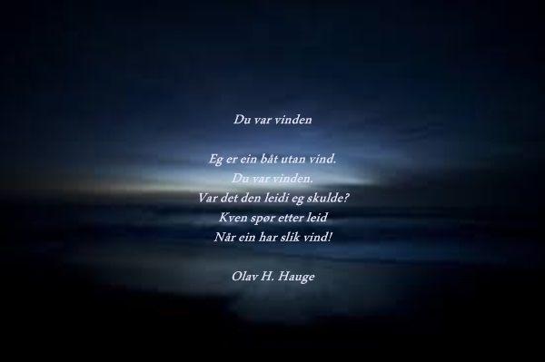 olav h hauge dikt du var vinden