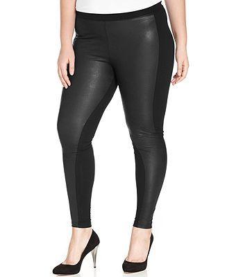 Style&co. Plus Size Faux-Leather Leggings - Plus Size Pants - Plus ...