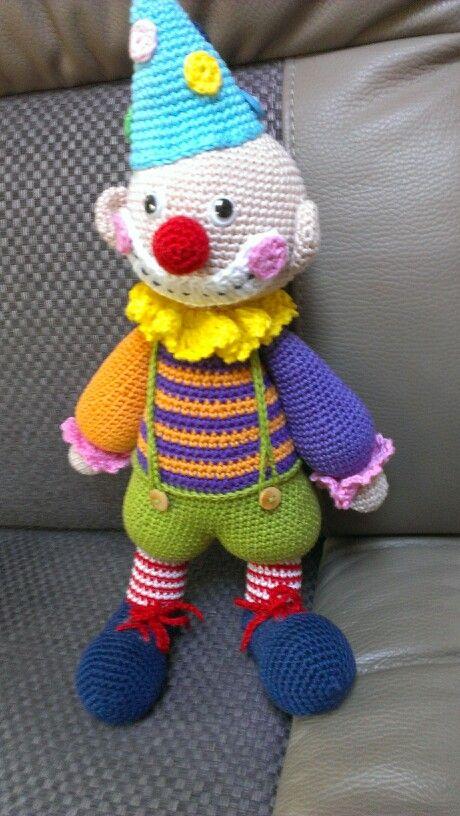 Clown ook door mij gehaakt