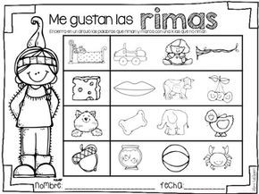 gracias thanksgiving math and literacy centers in spanish classroom rhyming words. Black Bedroom Furniture Sets. Home Design Ideas