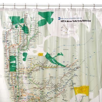 Ny Subway Map Shower Curtain.Mta New York City Subway Map Vinyl Shower Curtain Bedbathandbeyond