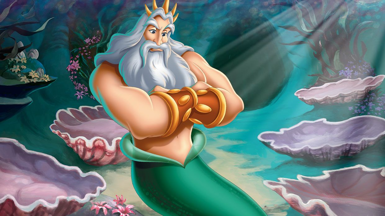 Uncategorized Ariel And King Triton little mermaid characters ariels father and ruler of the sea king triton