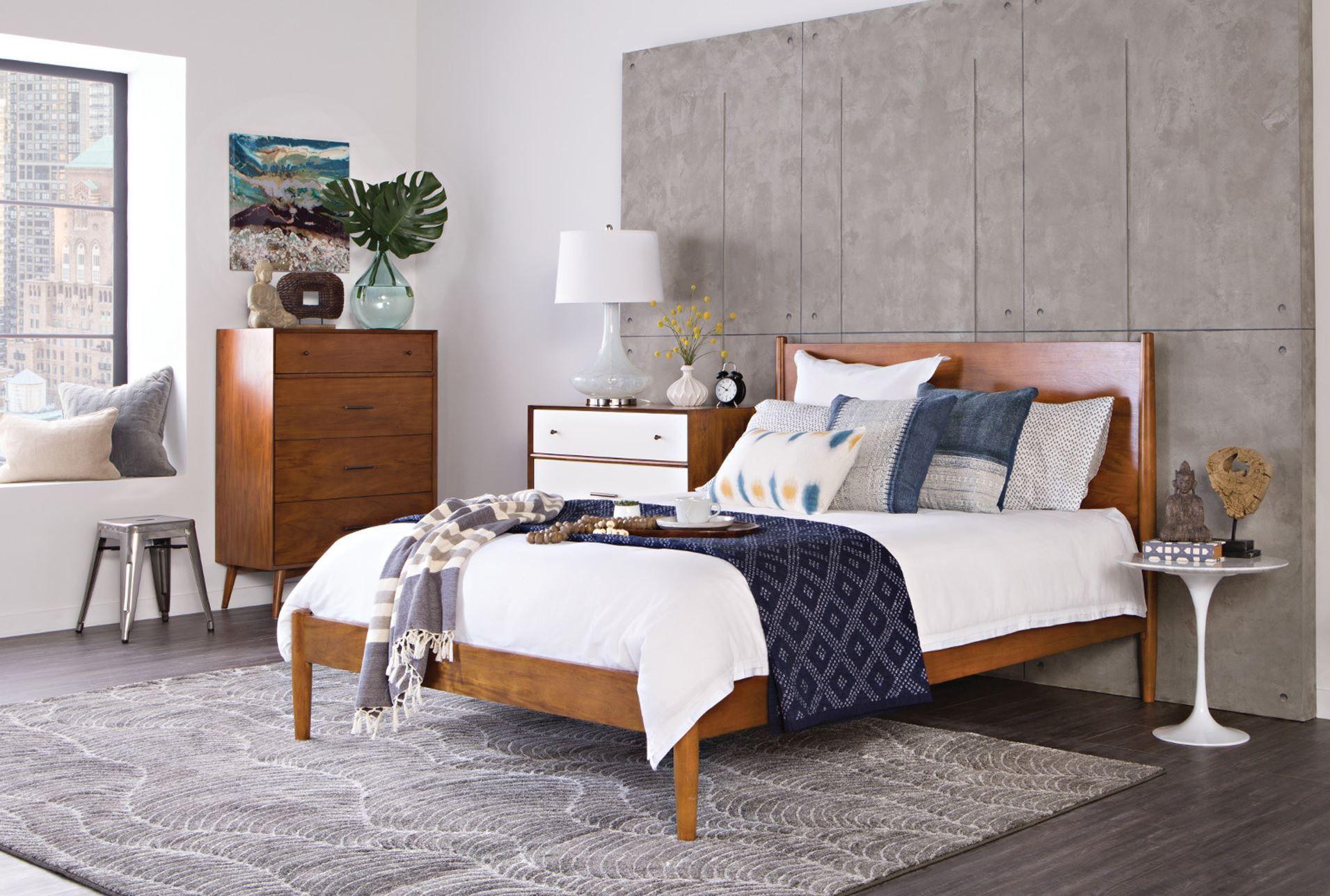 Alton Cherry Queen Platform Bed King Platform Bed Bedroom Furniture Inspiration California King Platform Bed