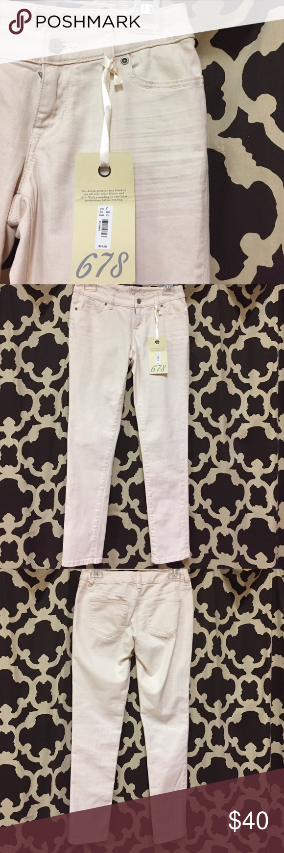 Limited jeans Pale pink denim jeans. The Limited Jeans Ankle & Cropped