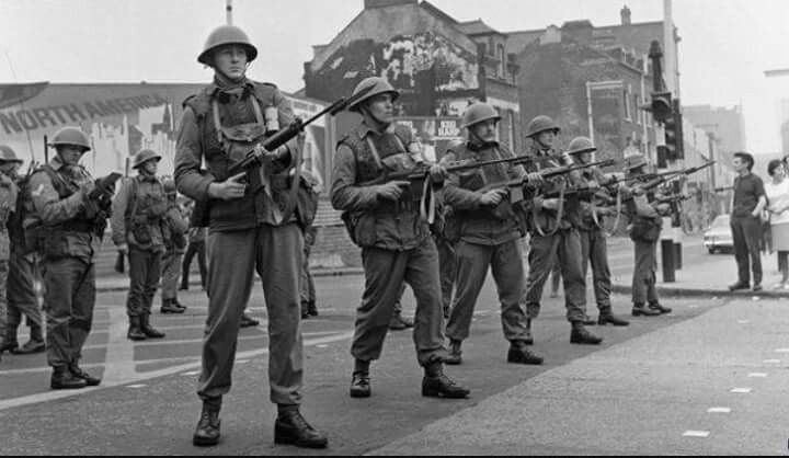 Image result for british troops arrived in northern ireland