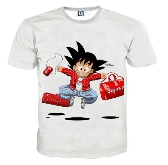 fc8d3d323cd3 Dragon Ball Goku Kid Supreme White Fashion Design T-Shirt  dbz  dragonball   anime
