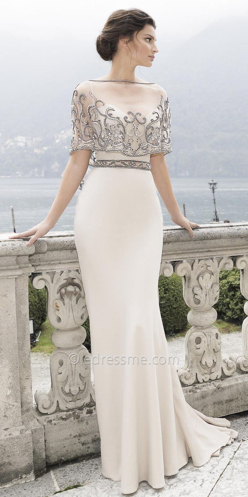 Ica Evening Dress By Tarik Ediz Evening Dresses Dresses Bride Dress [ 1600 x 800 Pixel ]