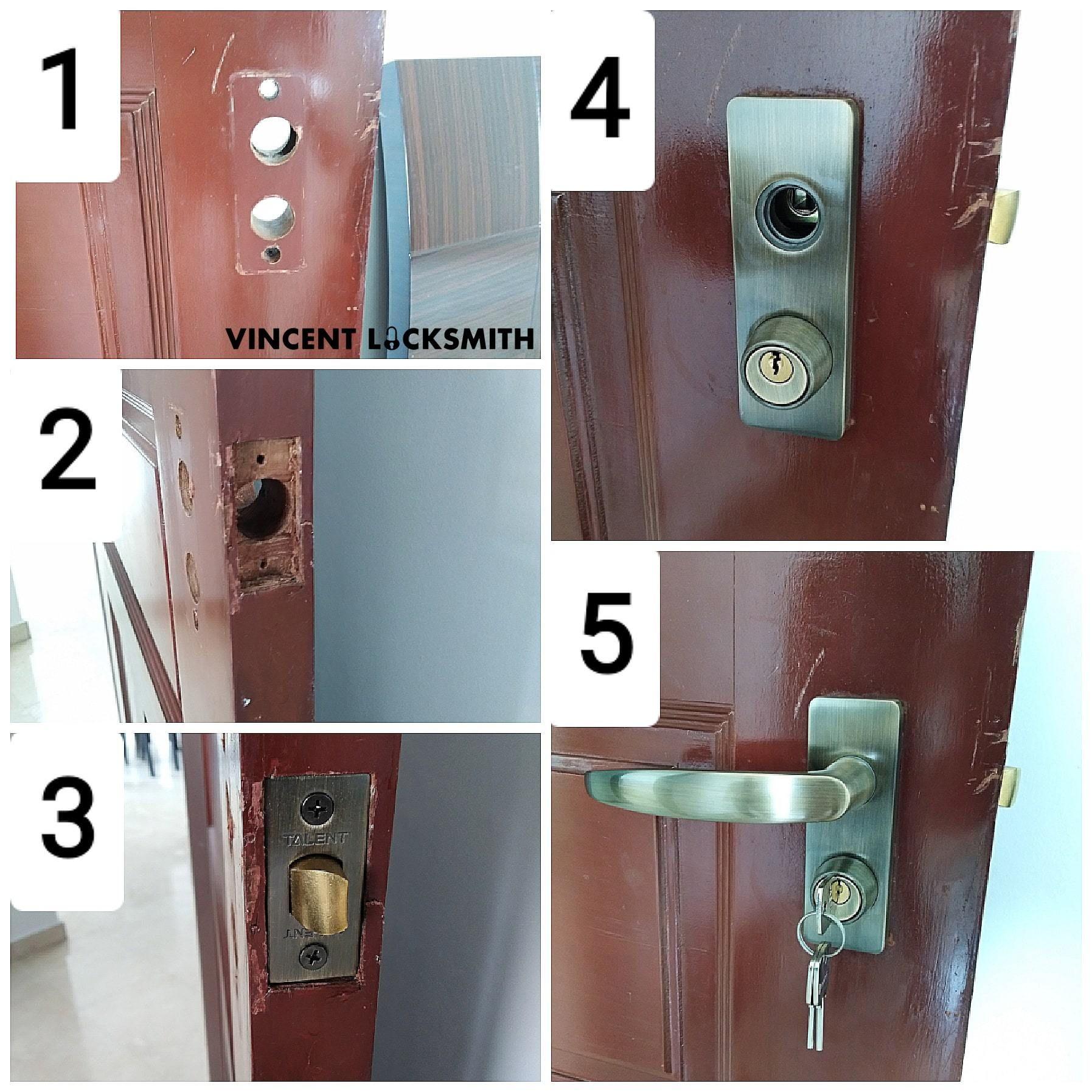 Change Hdb Bto Room Lock Vincent Locksmith Singapore Room Doors Locksmith Door Handles