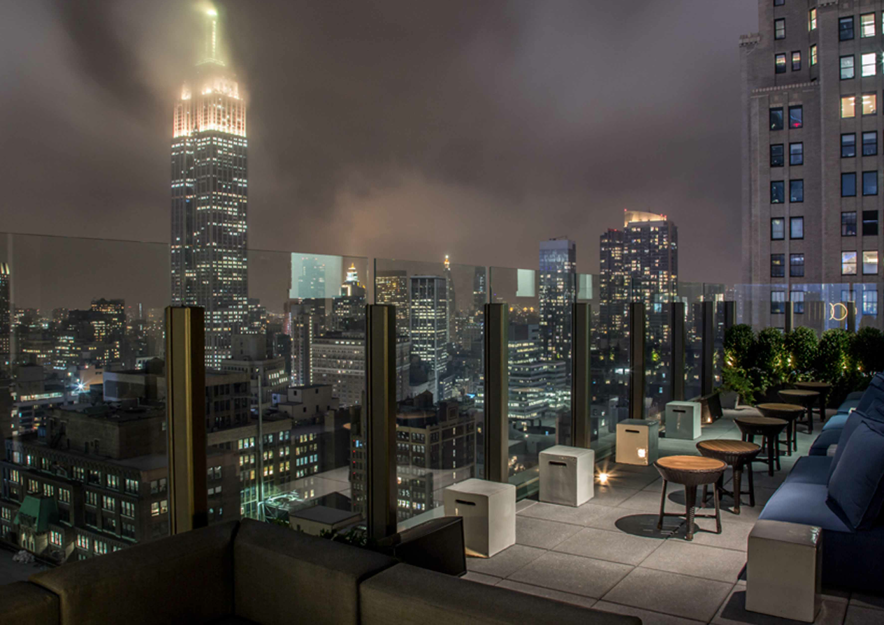The Skylark in #NYC has 270-degree views encompassing the Hudson River, Empire State Building, and #TimesSquare.