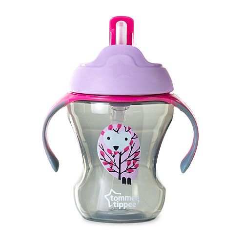 Tommee Tippee 8 Ounce Trainer Straw Cup Purple Owl Purple Owl Baby Purple Owl Baby Sippy Cup