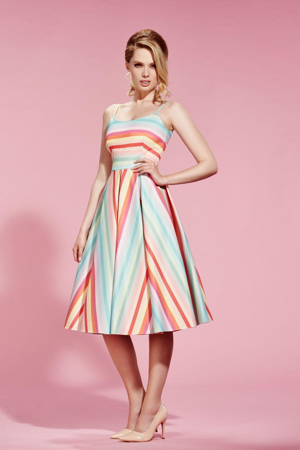 966bd2a6bd Priscilla Candy Stripe Midi Dress