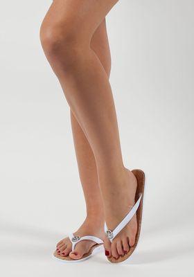d30cb9fd37e3 MICHAEL Michael Kors - Jet Set Flip Flop Optic White Jelly - Jildor Shoes