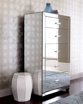 Horchow | More mirrored furniture here: http://mylusciouslife.com ...