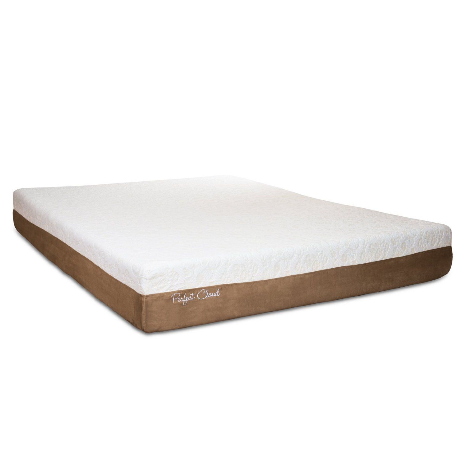 perfect cloud atlas gel plus 10 inch queen size memory foam mattress