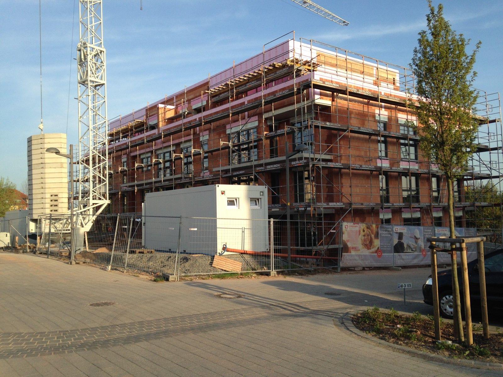 Bautenstand 16.04.2015 Aschaffenburg, Baubeginn, Bau