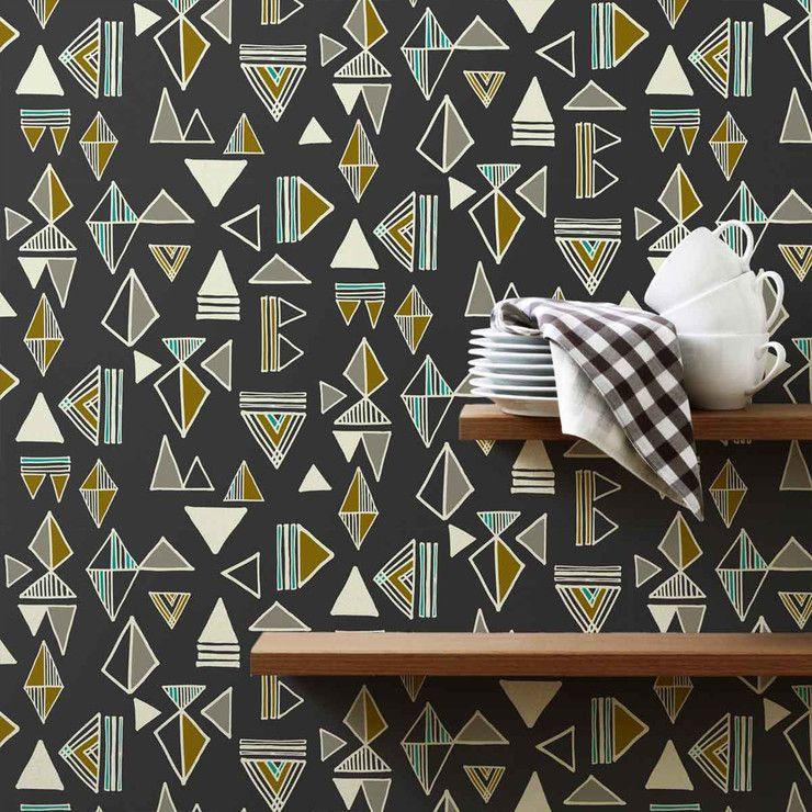 Astek Inc. Wallcovering Tom Tom Slate Wallpaper Tiles Fab