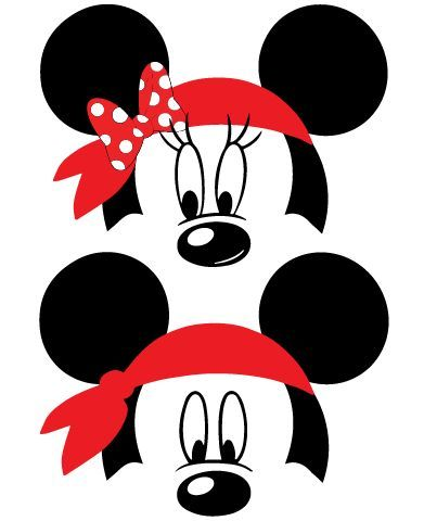 Mickey and Minnie Mouse Pirate Bandana