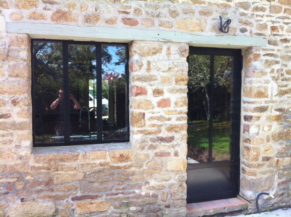 Ensemble Porte Et Fenêtre Esprit Verrière Ferme Pinterest - Porte placard coulissante jumelé avec serrurier paris 13eme