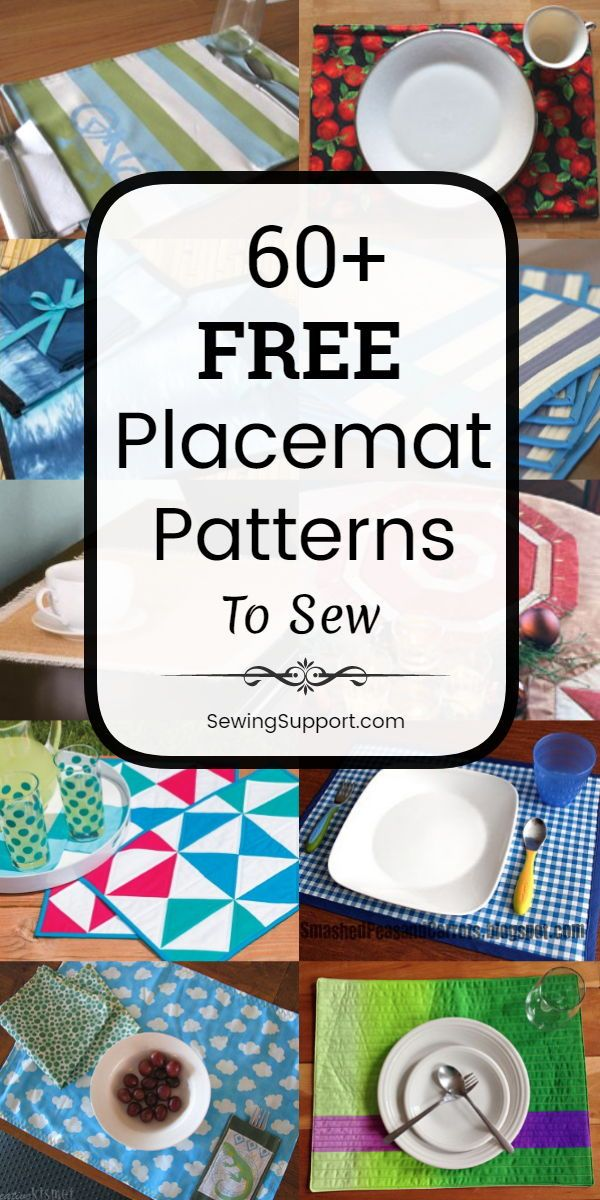 60 Free Placemat Patterns Placemats Patterns Beginner Sewing Projects Easy How To Make Placemats