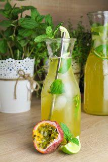 Erfrischend spritzige Maracuja-Minz-Limonade mit Limetten - Zottelige Zimtschnecken Chaotin