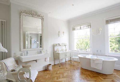 Houten vloer in badkamer nice