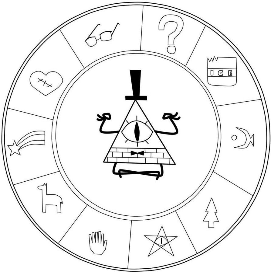 Circulo Bill Cipher Coloring Pics Fall Coloring Pages Gravity