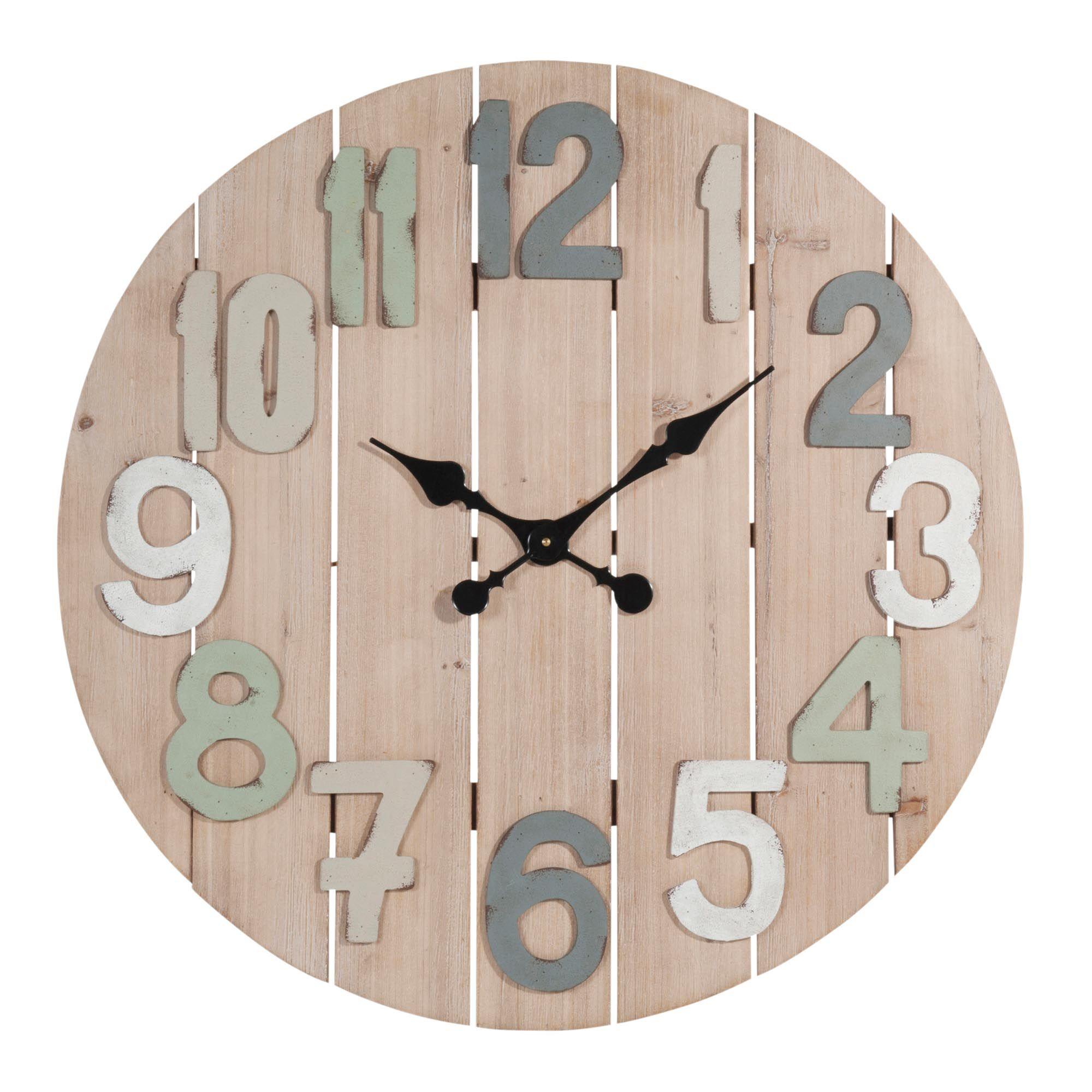horloge lattes en bois d 70 cm montroi maisons du monde home sweet home en 2019 pinterest. Black Bedroom Furniture Sets. Home Design Ideas
