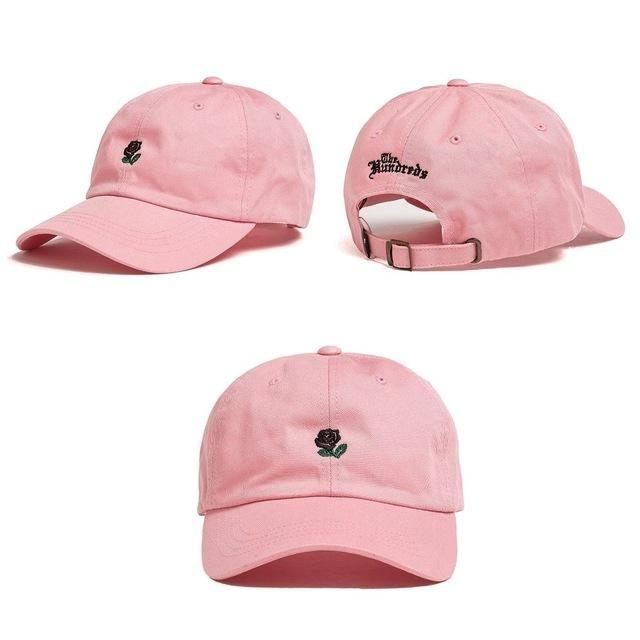The Hundreds Dad Hat Flower Rose Embroidered Snapback Baseball Cap Visor Hat
