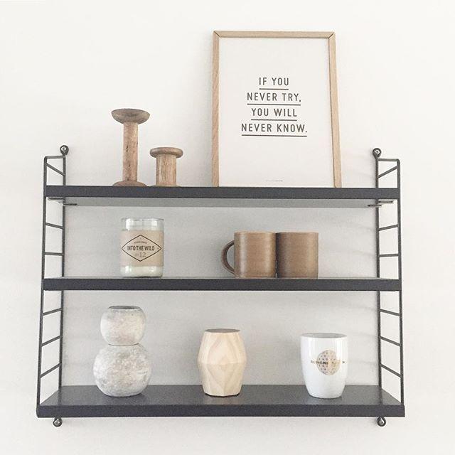 Interior ↠ String Regal, schwarz Styling-Idee ♡ Regale - wandregal für küche