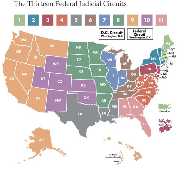 US Circuit Court Map Maps Pinterest Circuit court