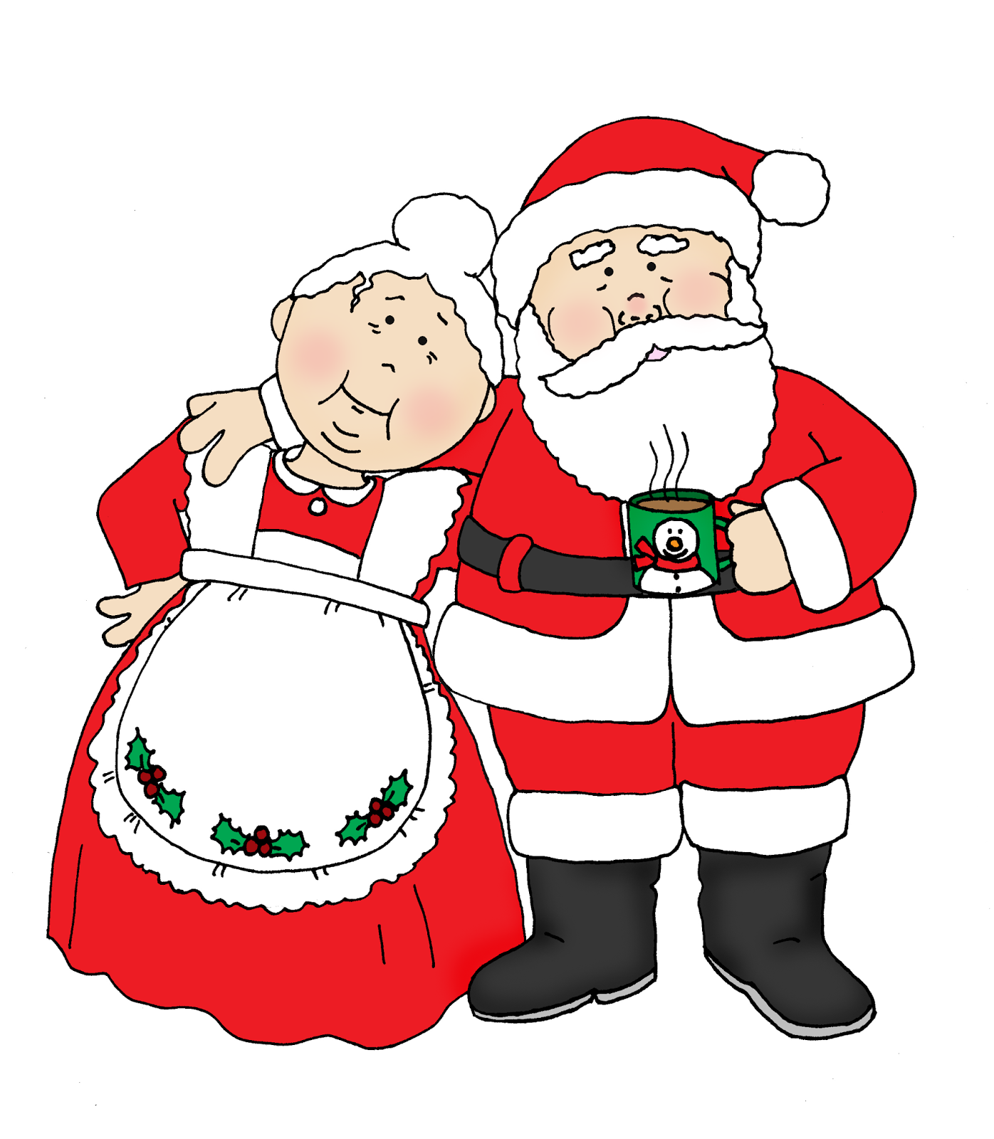 Free Dearie Dolls Digi Stamps Santa And Mrs Claus