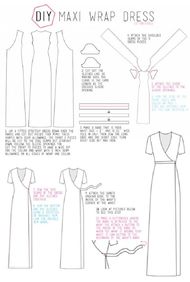 DIY Maxi Wrap Dress - 10 Fashionable DIY Dress Sewing Patterns ...