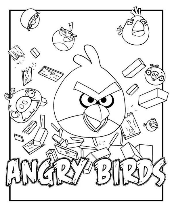 Gratis Kleurplaten Angry Birds.Kleurplaat Angry Birds Angry Birds 5 Kleurplaten Angry