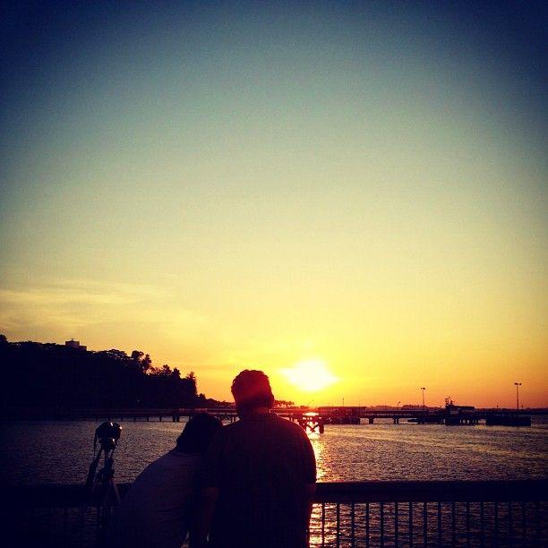 Last sunset of 2011 is gorgeous #sunset #woodlands #waterfront #sky #skyline #couple #nature #singapore #sg #jetty #beach #coast #coastline #iphone4s #causeway #marsiling #admiralty #checkpoint #guosheng #guoshengz