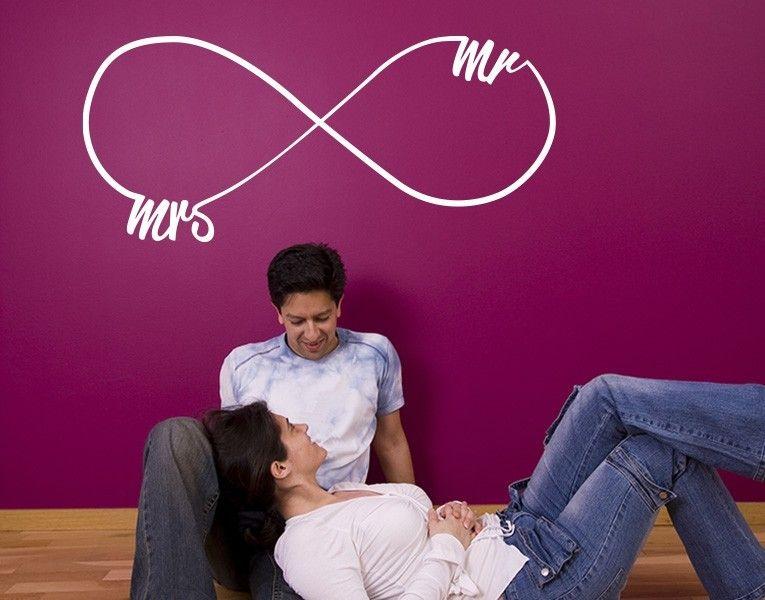 Wandtattoo Infinity Mrs and Mr