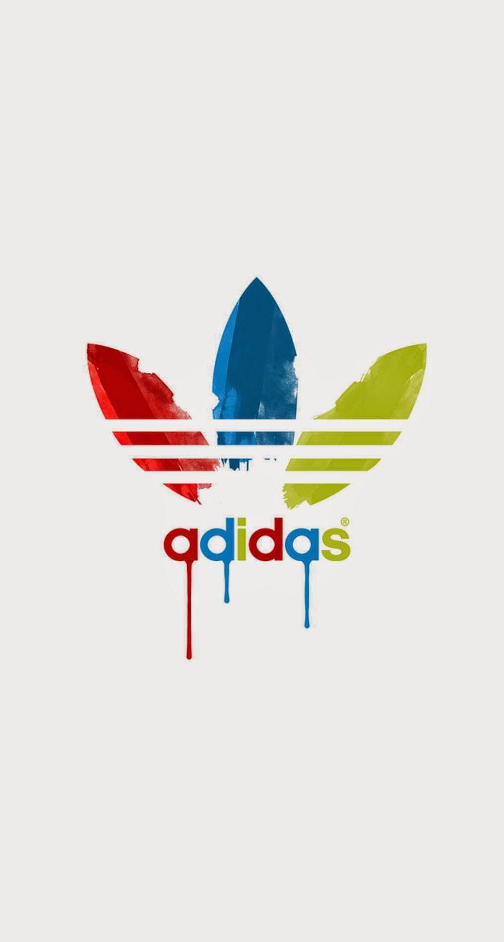 Adidas Dripping Paint Logo iPhone 6 Plus HD Wallpaper.jpg