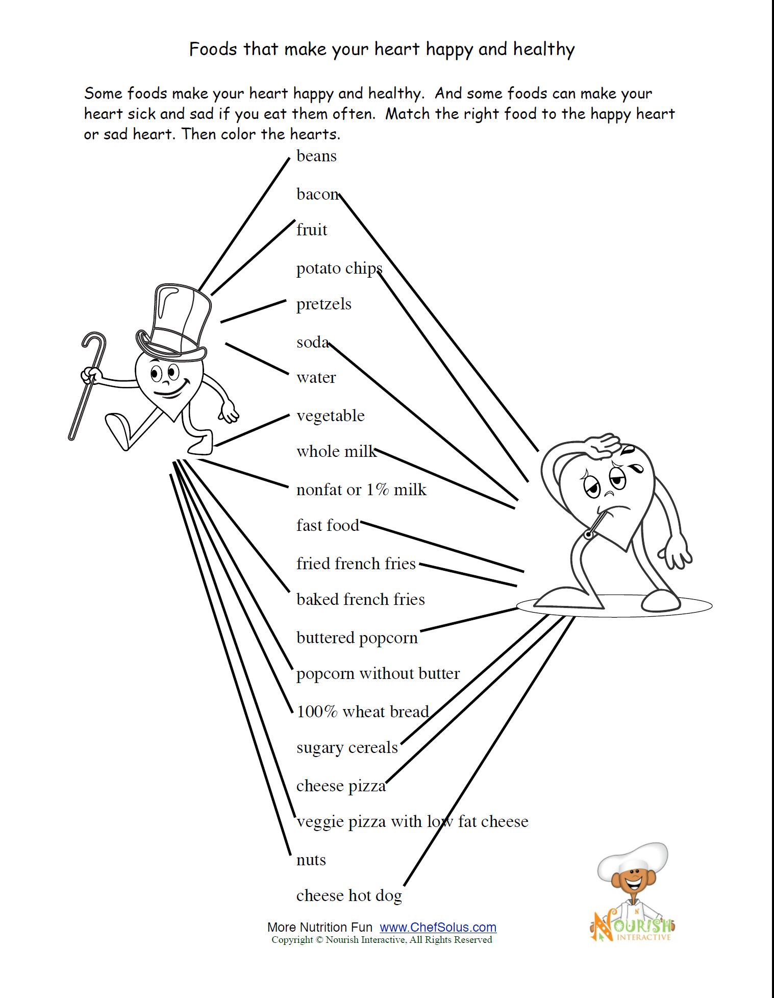 Healthy Lifestyle Choices Worksheet