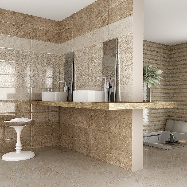 Jazmine Wall Tiles In Beautiful Bathroom  Stunning Tile Ideas For Entrancing Bathroom Wall Tile Ideas 2018