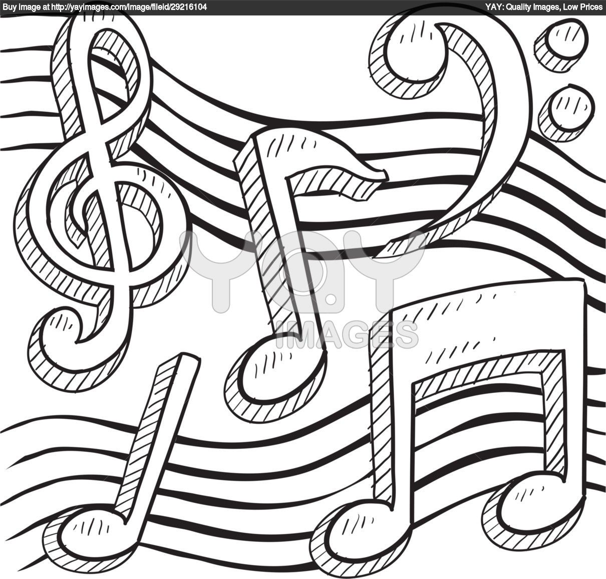 Royalty Free Vector Of Music Notes Vector Border Or Background Music Notes Drawing Music Coloring Music Notes Art [ 1158 x 1210 Pixel ]
