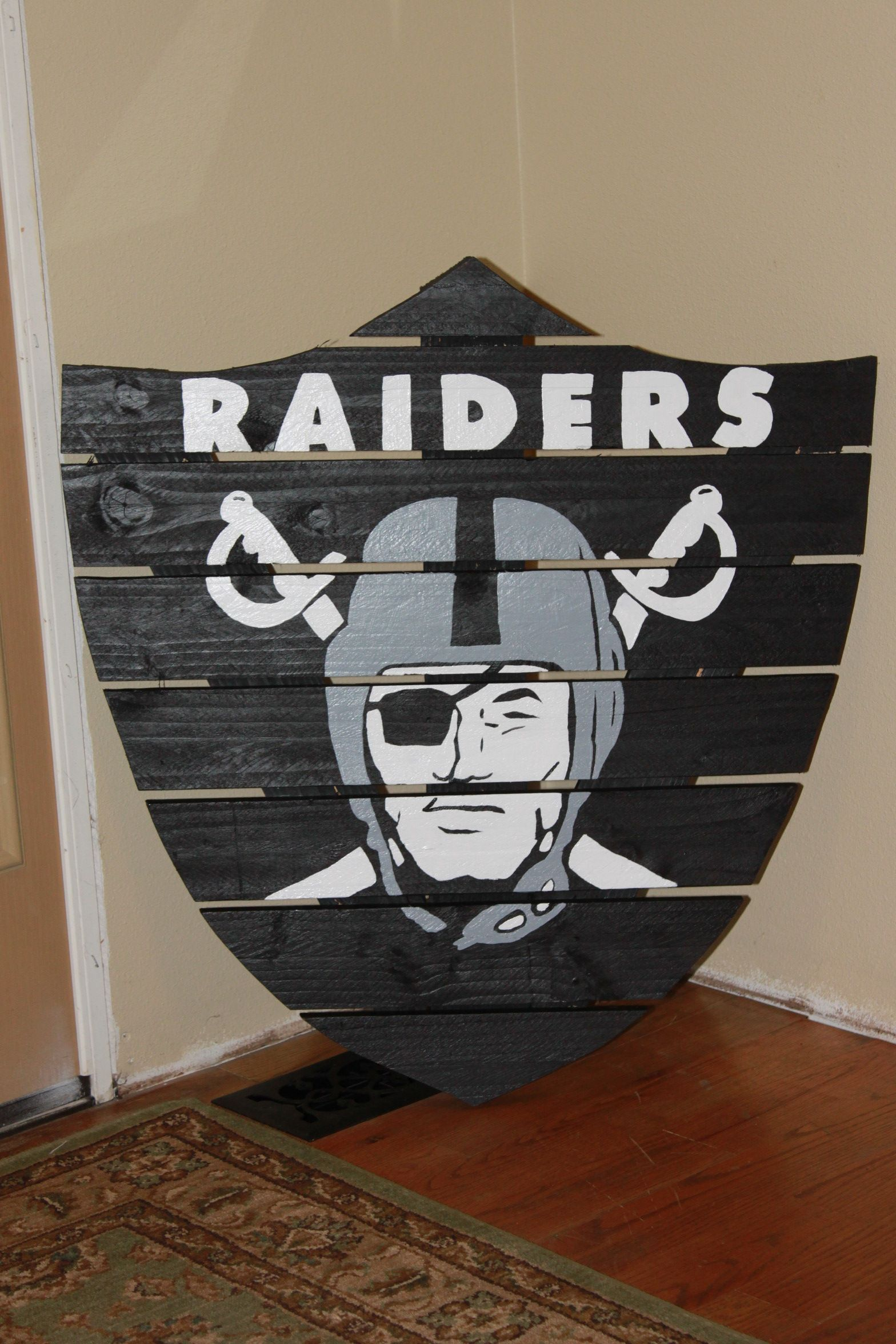 oakland raiders chair with tablet arm canada my favorite things signs pinterest